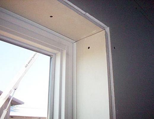 гипсокартонные откосы на окна