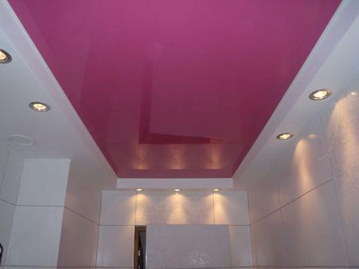 ванная натяжной потолок фото