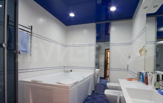 монтаж подвесного потолка в ванной