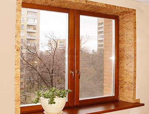 деревянные откосы на окна