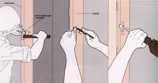 монтаж дверей деревянных