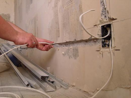 прокладка кабелей электропроводки