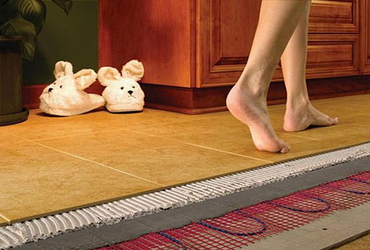 Как сделать пол в ванной теплым