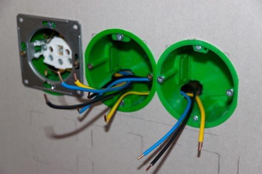 розетка электрическая с заземлением. Подсоединение