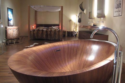 Оригинальная деревянная ванна