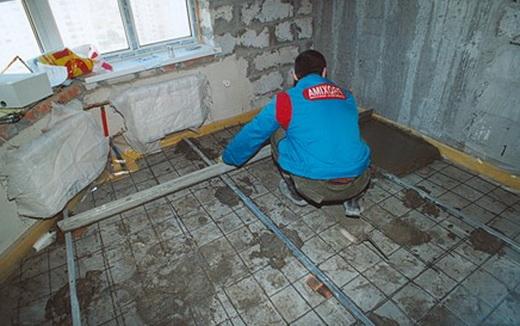 стяжка бетонная технология