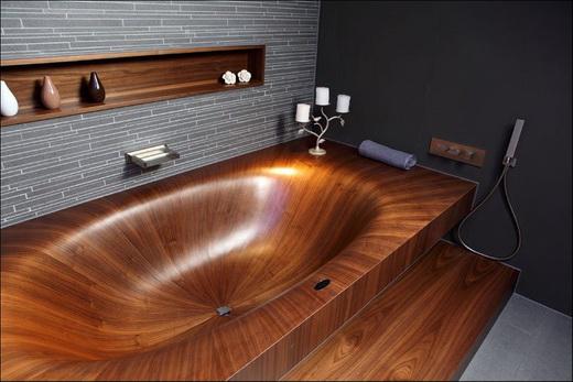 Деревянная ванна. Внешний вид