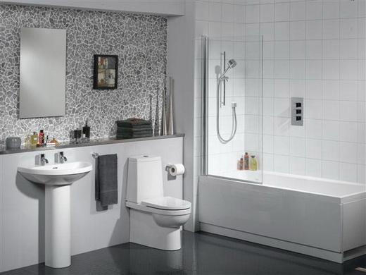 обделка плиткой стен ванной