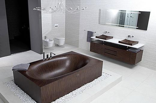 Импортная ванна из дерева