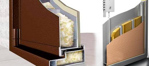 разные методы утепления дверного полотна