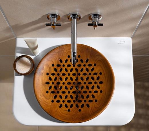 Фото деревянной раковины