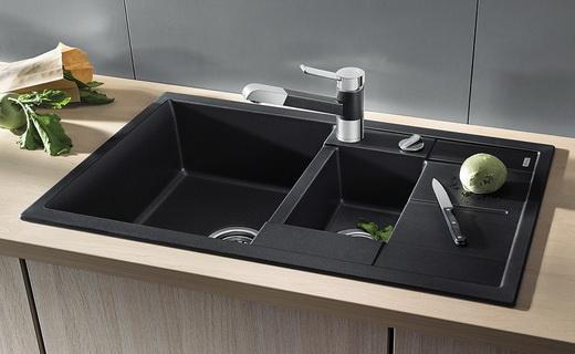 Двухчашевая кухонная раковина