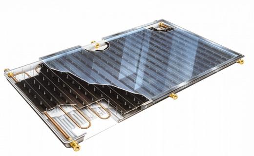 Плоские коллекторы, работающие от солнечной энергии