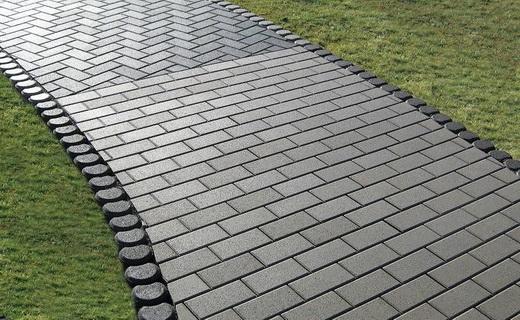 Тротуарная плитка серого цвета